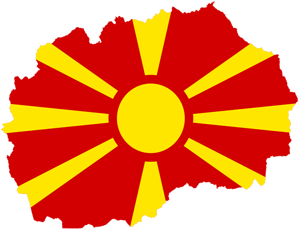 The Flag of Republic of North Macedonia