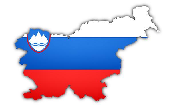 Slovenačka zastva mapa Slovenija